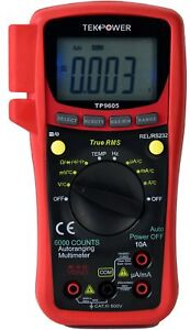 Auto Ranging Digital True Rms Smart Multimeter W Bluetooth Usb Connection App