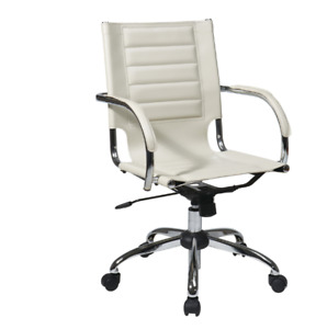 White Contemporary Modern Executive Office Task Desk Computer Chair Ergonomic