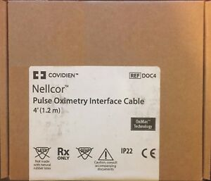 Nellcor Spo2 Interface Cable 4ft Ref Doc4 Brand New In Original Packaging