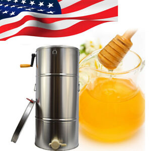 Portable 2frame Stainless Honey Extractor Spinner Honeycomb Beekeeping Bee Honey