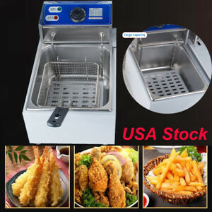 Electric Deep Fryer Small Commercial Kitchen Cooking Warming Equipment In Stock