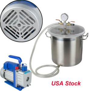 5 Gal 250ml Degassing Vacuum Chamber Epoxy Silicone Resin Solvent Mold Casting