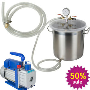 3cfm Safety Vacuum Pump 1 4hp And 5 gallon Vacuum Chamber Silicone Degassing
