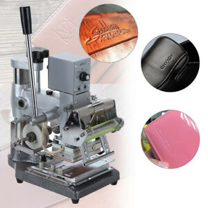 Foil Stamping Machine Pvc Leather Printing Logo Embossing Marking Machine