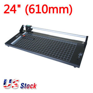 Us Stock 24 Manual Precision Rotary Paper Trimmer Sharp Photo Paper Cutter