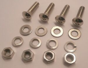 1950 1967 Vw Bumper Carrier Bolt Kit Front Rear Set Of 4 Long Bolts Nuts Washers