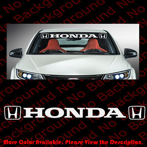 Car Windshield Die Cut Vinyl Decal Sticker For Honda Civic Accord Ha002