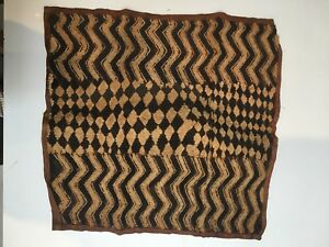 Kuba Cloth 100 Authentic Handmade Size 23 X 24