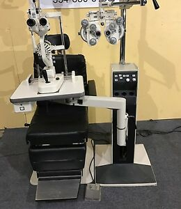 Reliance 5200 Exam Chair 7720 Stand Topcon 2ed Slit Lamp Cylinder Phoropter