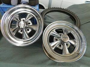 Two 2 15 X 6 Gasser Cragar S s Racing Wheels Vintage Drag Race Rare