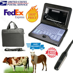 Veterinary Full Digital Ultrasound Scanner Portable Laptop Machine 7 5m Rectal