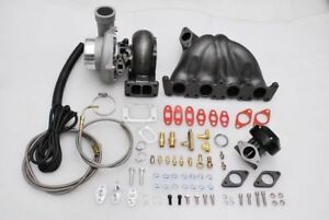 Fits Golf Gti Jetta Vag Passat Mk3 Mk4 1 8t Top Mount Manifold Gt35 Turbo Kit