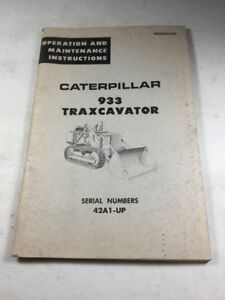 Caterpillar 933 Traxcavator Operation Maintenance Manual