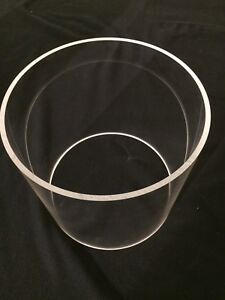Clear Cast Acrylic Tube 10 50 od X 10 00 id X 9 75 Long 2 Available