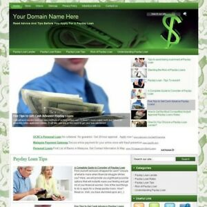 Payday Loan Tips Affiliate Product Business Website For Sale Make Money At Home