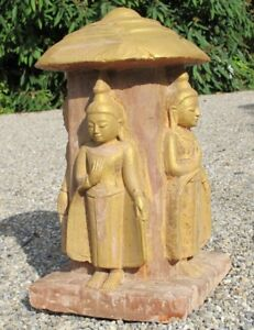 Antique Sandstone 4 Buddha Statues From Burma Antique Buddha Statues