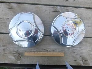 1964 1965 1966 Chevrolet 3 4 Ton Pickup Chrome Dogdish Hubcaps 2