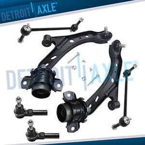 2005 2010 Ford Mustang Front Control Arm Ball Joint Tierod Sway Bar Kit 6pc
