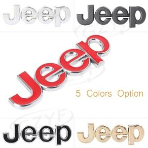 1pc 3d Jeep Rear Tailgate Decal Emblem Logo Sticker For Jeep Grand Cherokee Wk