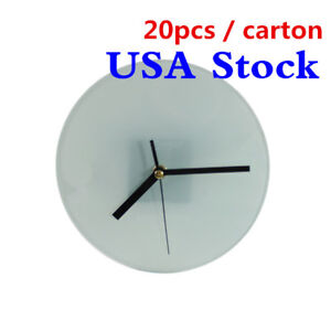Usa Sublimation Transfer Blank Glass Photo Frame With Glossy Round Clock