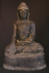 19th Century Mandalay Antique Sitting Buddha From Burma Antique Buddha Statues