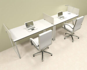 Two Person Modern Acrylic Divider Office Workstation al opn sp13