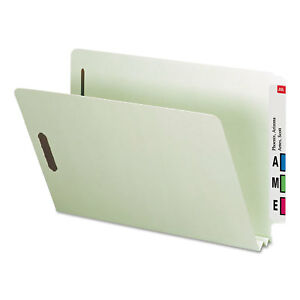 Smead Heavy Duty Folders End Tab Two Inch Expansion Legal Gray Green 25 box