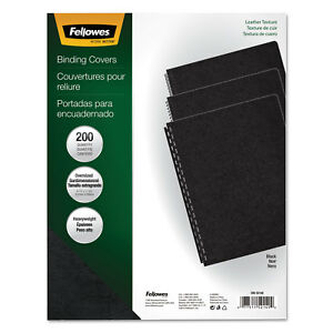 Fellowes Executive Presentation Binding System Covers 11 1 4 X 8 3 4 Black 200