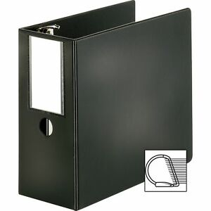Business Source D ring Binder W label Holder Hvy dty 5 Black 33121