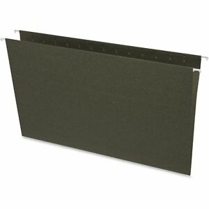 Business Source Hanging Folders W o Tabs Legal 25 bx Green 26529