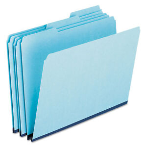 Pendaflex Pressboard Expanding File Folders 1 3 Cut Top Tab Letter Blue 25 box