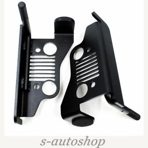 Black Iron Front Foot Pegs Truck Parts For Jeep Wrangler 2007 2016