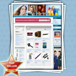 Hair Care Store Premium Ecommerce Business Website Free Domain Life Support