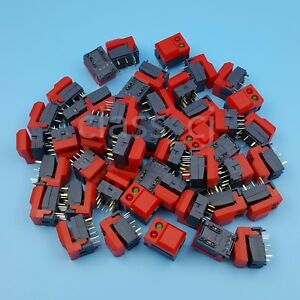 50pcs Hongju Pb86 Red 8pin Momentary Push Button Tact Switch Spdt With 2 Leds