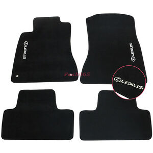 For 06 12 Lexus Is350 Is250 Black Nylon Floor Mats Carpet W Lexus Embroidery