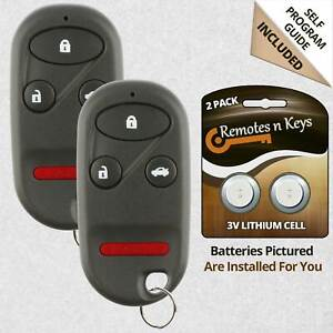 2x Car Transmitter Alarm Remote For 1998 1999 2000 2001 2002 Honda Accord H2t