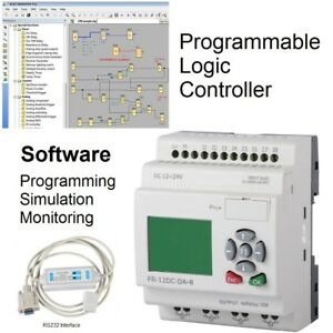 Plc Kit Programmable Logic Controller Programming Software W Rs232 Interface Ul