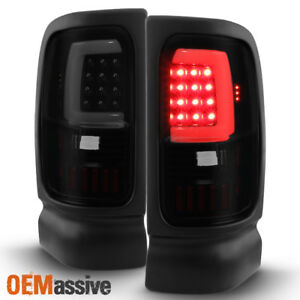 Fit 1994 2001 Dodge Ram 1500 2500 3500 Black Smoked Led Tail Lights Replacement