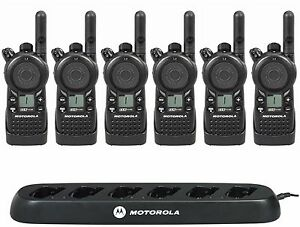 6 Motorola Cls1110 Uhf Radios With Multi unit Charger Rebate For A Free Radio