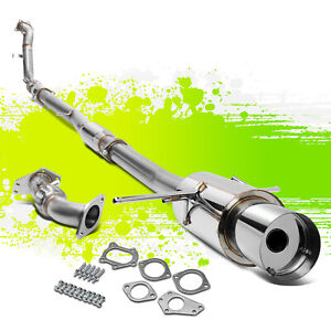 For 02 07 Wrx sti Ej25 4 5 tip Turbo Back catback up downpipe Exhaust Kit System