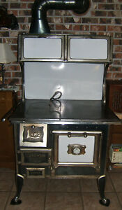 Antique Wood Burning Cook Stove Lang Langwood 26 34 Seattle 1923