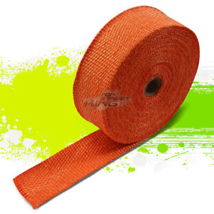 15m 590 2 Width Car Bike Exhaust Manifold Header Down Pipe Orange Heat Wrap