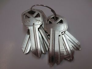 Lot Of 10 Pcs Kw1 Nickel Plated Key Blank Made In Usa By Ilco