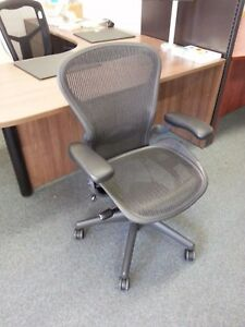 Herman Miller Aeron Office Chairs Carbon black Refurbished open Box