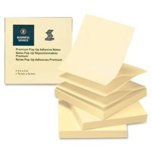 Business Source Pop up Adhesive Note Pads 3 x3 100 Sh 24 pk Yellow 36617