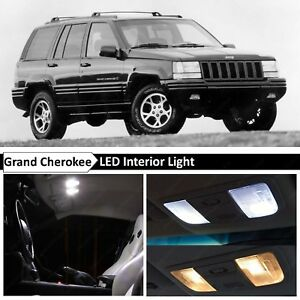 White Led Lights Interior Replacement Package For 1993 1995 Jeep Grand Cherokee