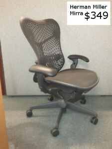 Herman Miller Mirra Office Chairs Hard Back Excellent Rarely Used Condition