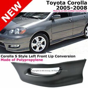 Toyota Corolla 05 08 S Style Front Driver Lower Body Kit Lip Spoiler Pp Black