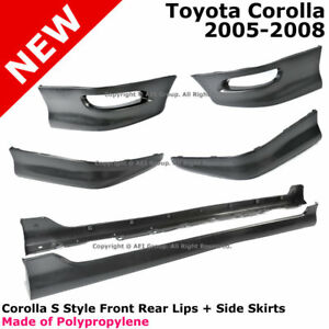 Toyota Corolla S Style Full Set Body Kit Lip Spoiler Lower Pp Side Skirt 05 08