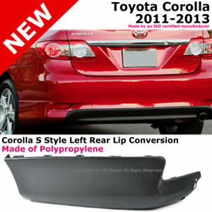 Toyota Corolla 11 13 S Style Rear Driver Lower Body Kit Lip Spoiler Pp Black